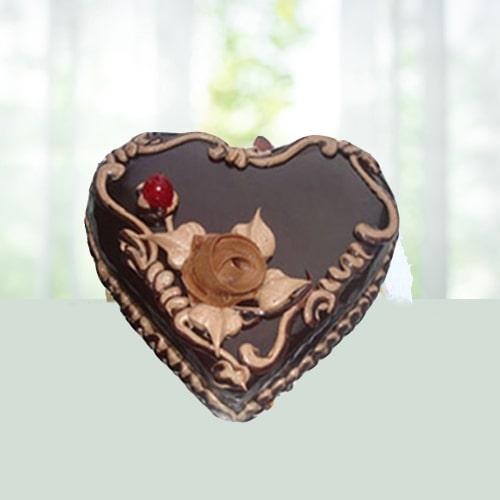 AD-1Kg Heart Shape Chocolate Cake