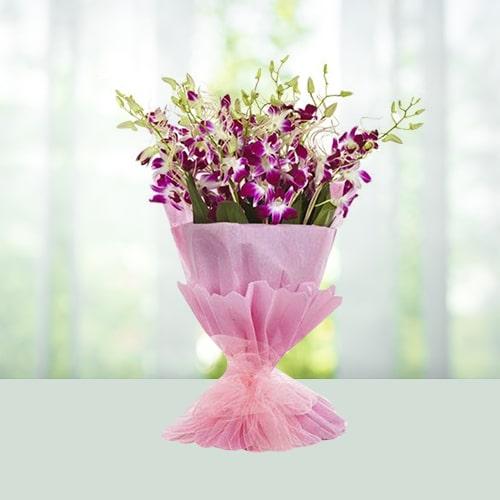 Flowers bouquet-Orchids -online flower delivery in Delhi