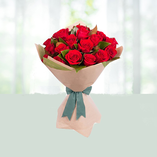 Flowers Bouquet of Red Roses