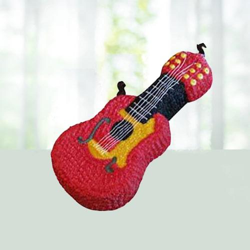 Guitar Shape Cake