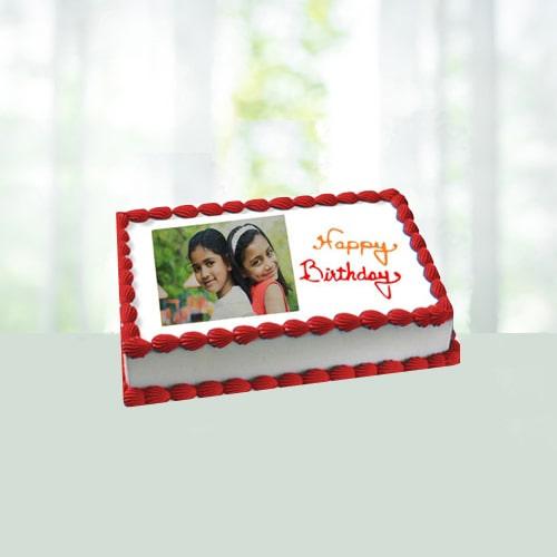 Birthday Eggless Photo Cake