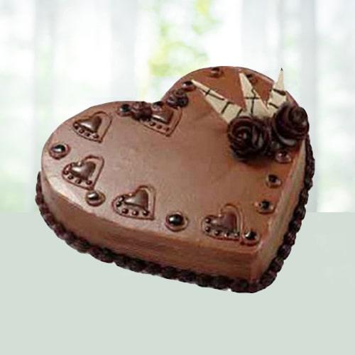 1Kg Heart Shape Blackforest Cake