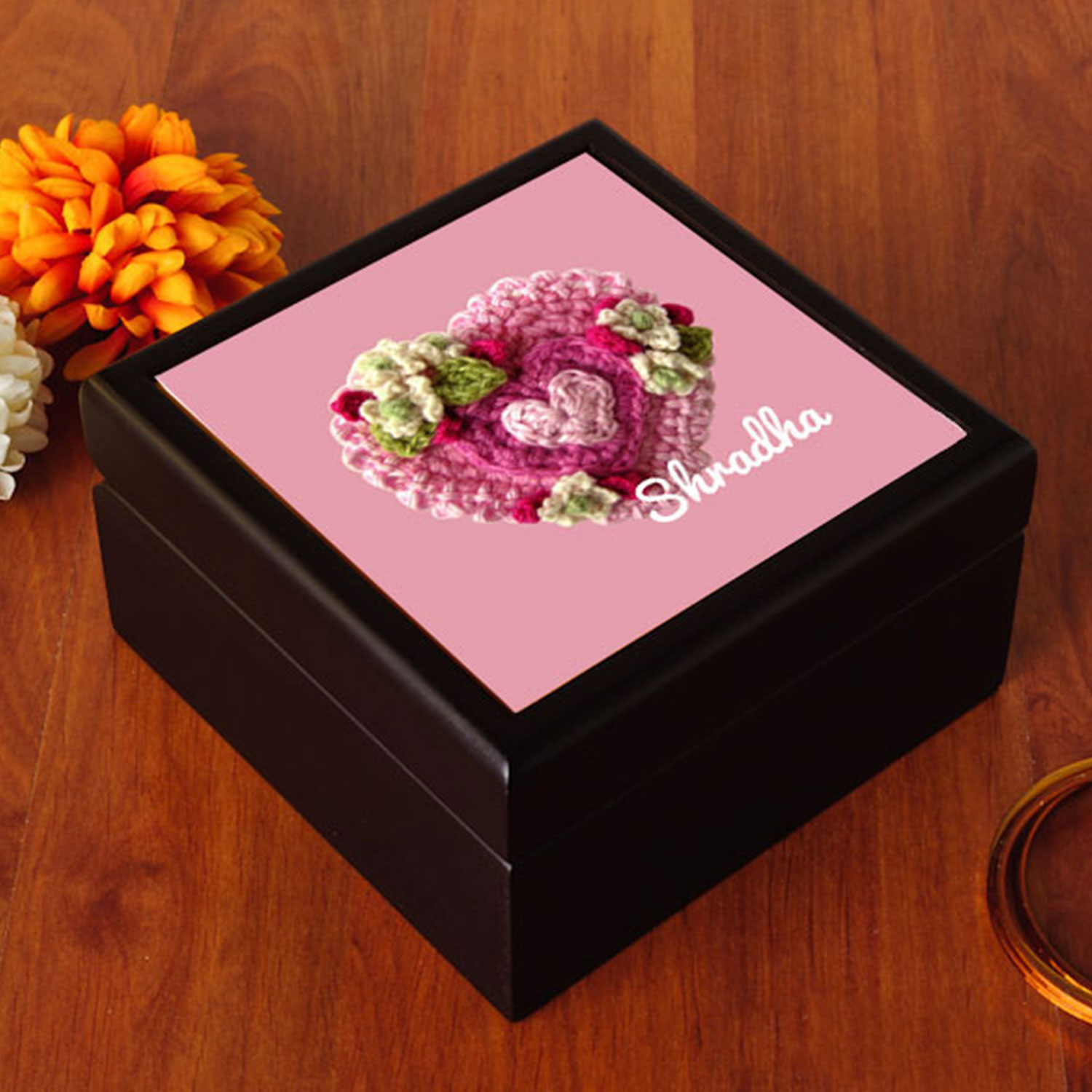 Floral Heart Jewelry Box