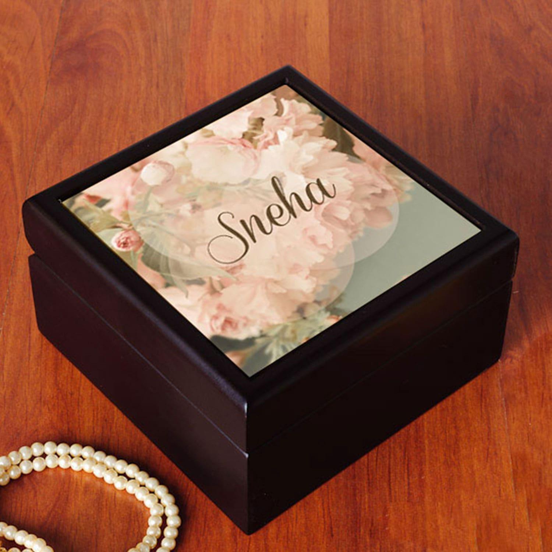 Elegant Personalized Jewelry Box
