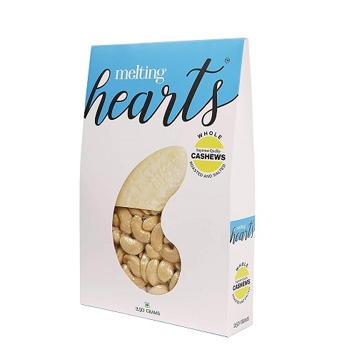 MELTING HEARTS CASHEWS, ROASTED AND SALTED-250 grams