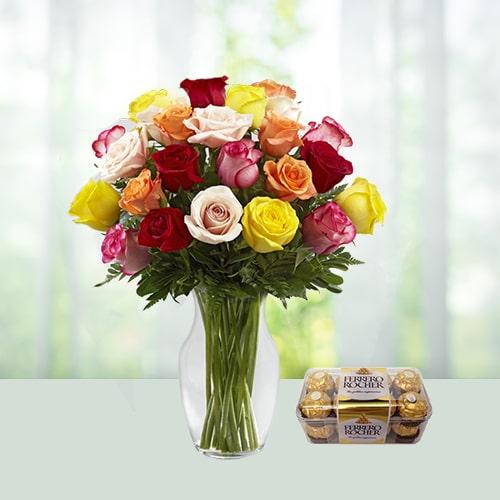 Mix Roses With Ferrero
