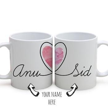 Couples' Name Personalized Mugs Set