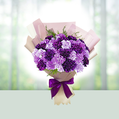 Flowers Bouquet of 24 Carnations
