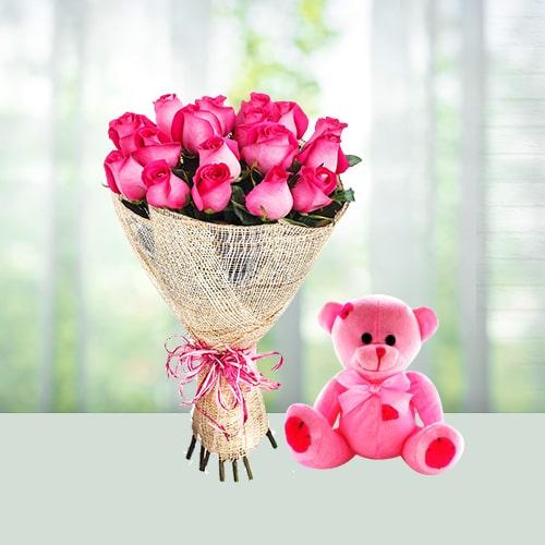 Rose n Teddy combo