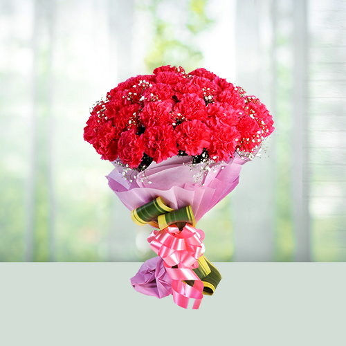 Red carnation Flowers Bouquet