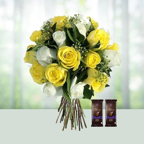 Roses With Dark Chocolates