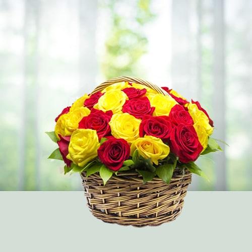 Happy Roses basket
