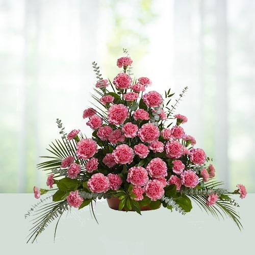 Pink Carnations Arrangement