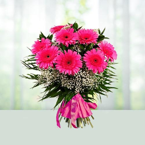 Pink Gerbera Flowers Bouquet