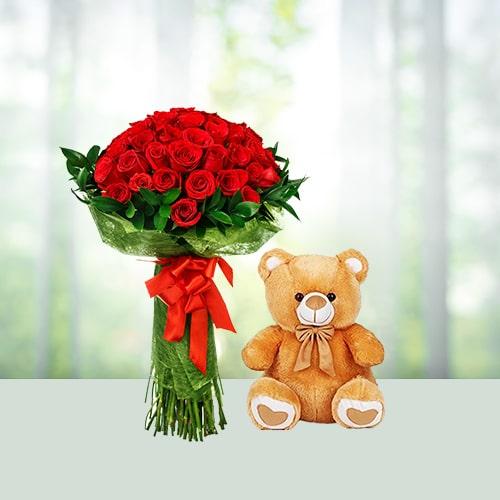 Rose N Teddy 2 Feet