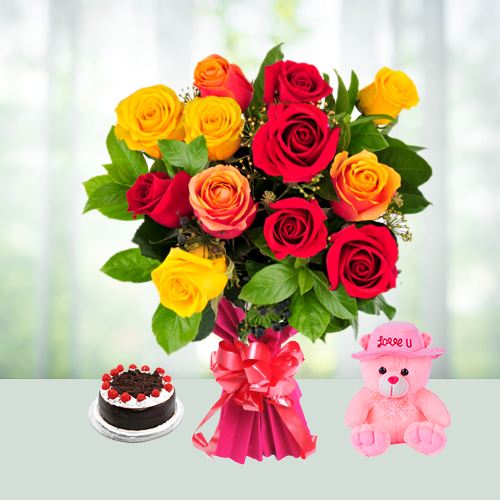 Floral Wish with Teddy