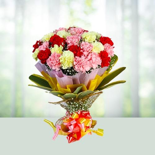 12 mix carnations bouqet