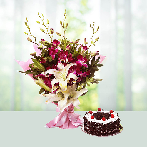 Orchids N Cake combo