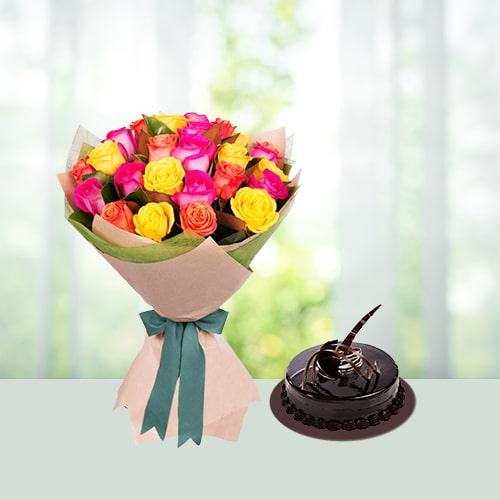 Rose n cake combo
