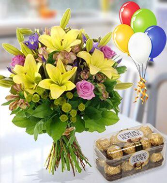 Flowers to UAE- Choco Bloom Combo