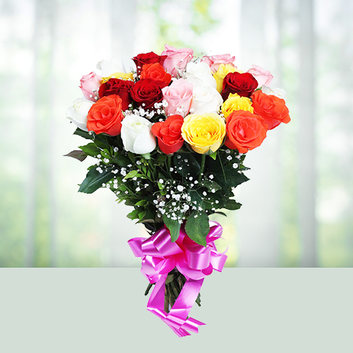Flowers Bouquet of 15 Mix Roses