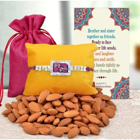 Designer Rakhi and Almonds