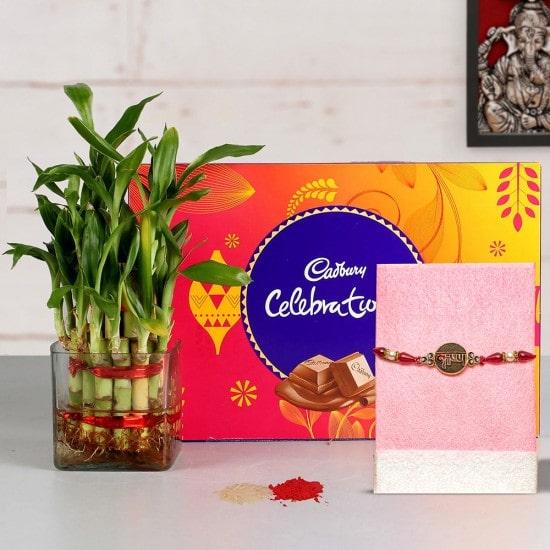 Rakhi with chocolate Hamper