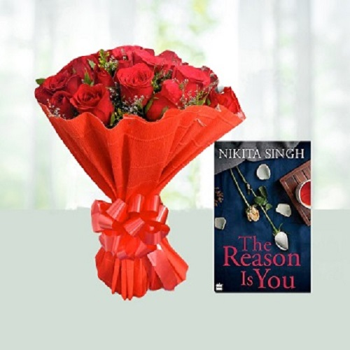 12 Red Roses N  Complimentary Nikita Singh's The Reason is You