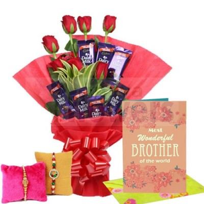 Rakhi Special and Chocolate Bouquet