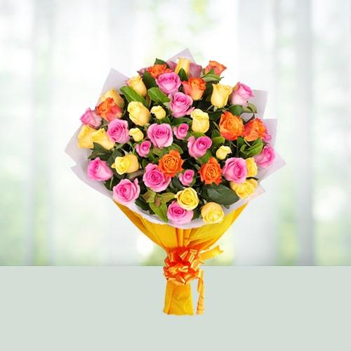 60 Mix Roses Bouquet