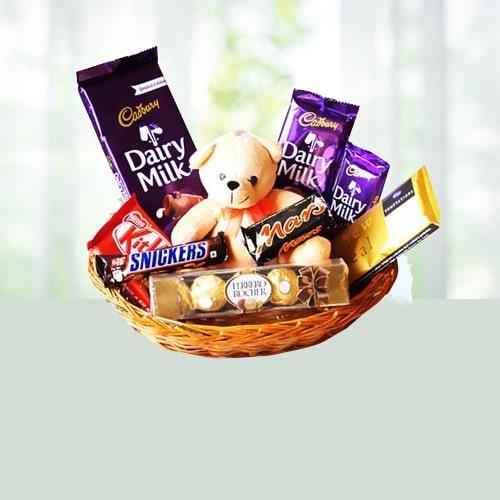 Teddy N Choco Basket