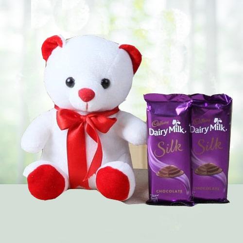 Blissful combo of Teddy N Dairy Milk Silk