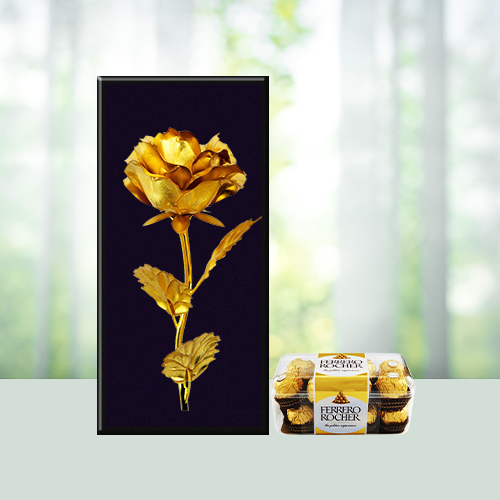 Golden Rose Ferrero Treat ( Courier Product  )