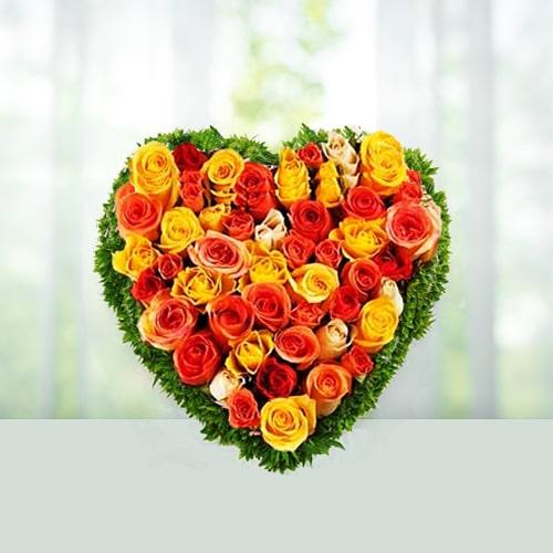 Mix Roses Heart