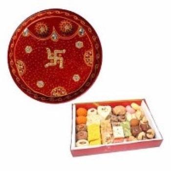 Rakhi Thali with Mix Sweets