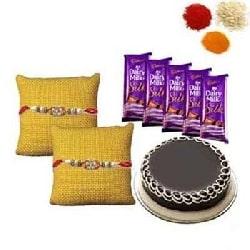 Rakhi with Cake and Chocolates