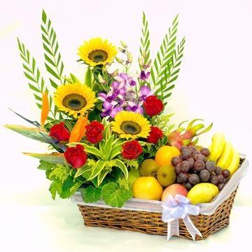 Floral Fruit Hamper