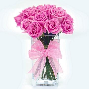 Pink Crush-Roses Table Flower