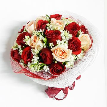 Pretty Blooms - 18 Roses Bouquet