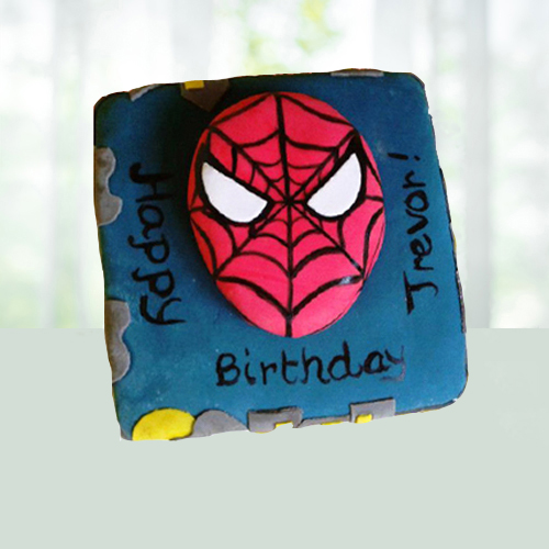 Spiderman Shape Cake for Kids
