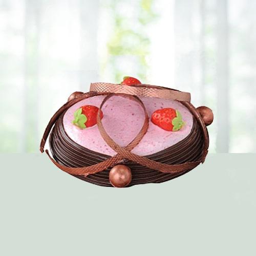 Strawberry Fudge cake to India