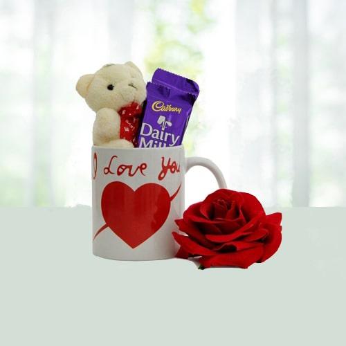 Love Mug Rose N Chocolates