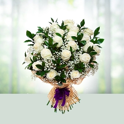 Flowers Bouquet- White Roses