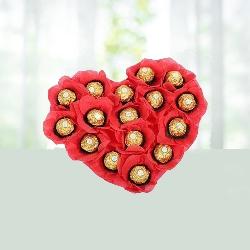 Heart Shaped 16 Ferrororocher Boquet