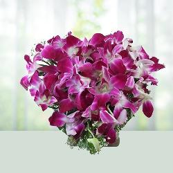 20 Purple Orchids Bouquet
