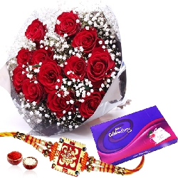 Rakhi with Celebrations Chocolate Pack