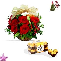 Christmas Gift- Flory Basket Combo