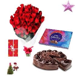 Christmas Gift Bouquet Combo