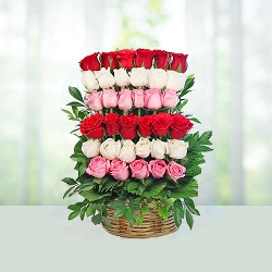 Flowers Bouquet of 35 Mix Roses