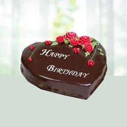 1Kg Heart Shape Chocolate Truffle Cake